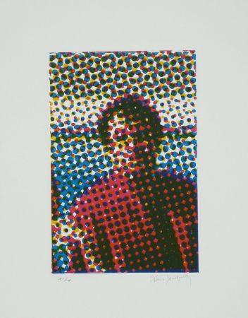 Etching And Aquatint Jacquet - Portrait de Mario Schifano