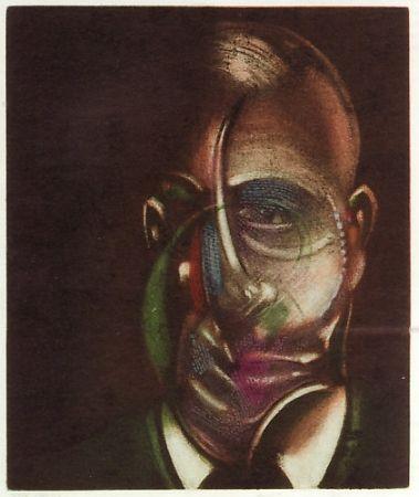 Etching And Aquatint Bacon - Portrait de  Michel Leiris
