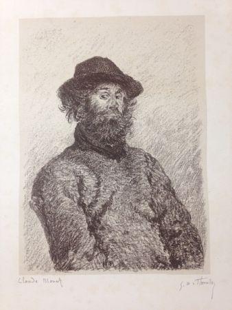 Lithograph Monet - Portrait de Poly