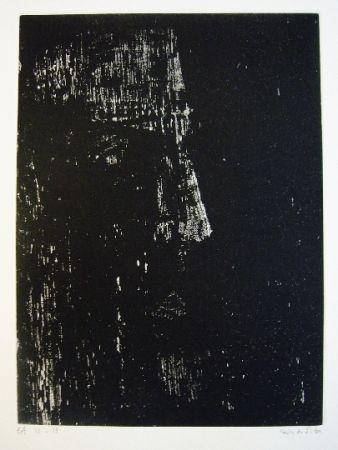 Etching Vieira Da Silva - Portrait de René Char