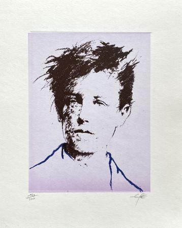 Lithograph Pignon-Ernest - Portrait de Rimbaud