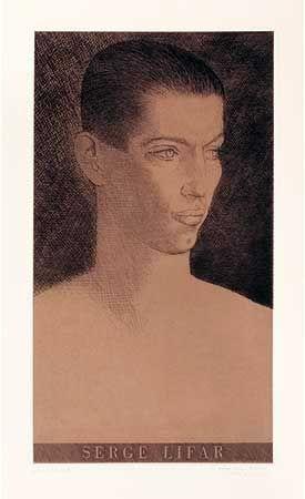 Etching Marcoussis - Portrait de Serge Lifar