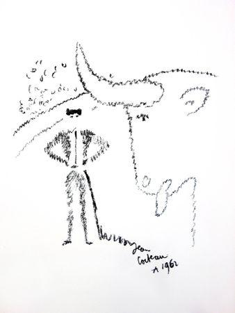 Lithograph Cocteau - Portrait de Taureau