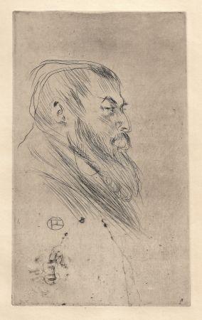 Drypoint Toulouse-Lautrec - Portrait de Tristan Bernard
