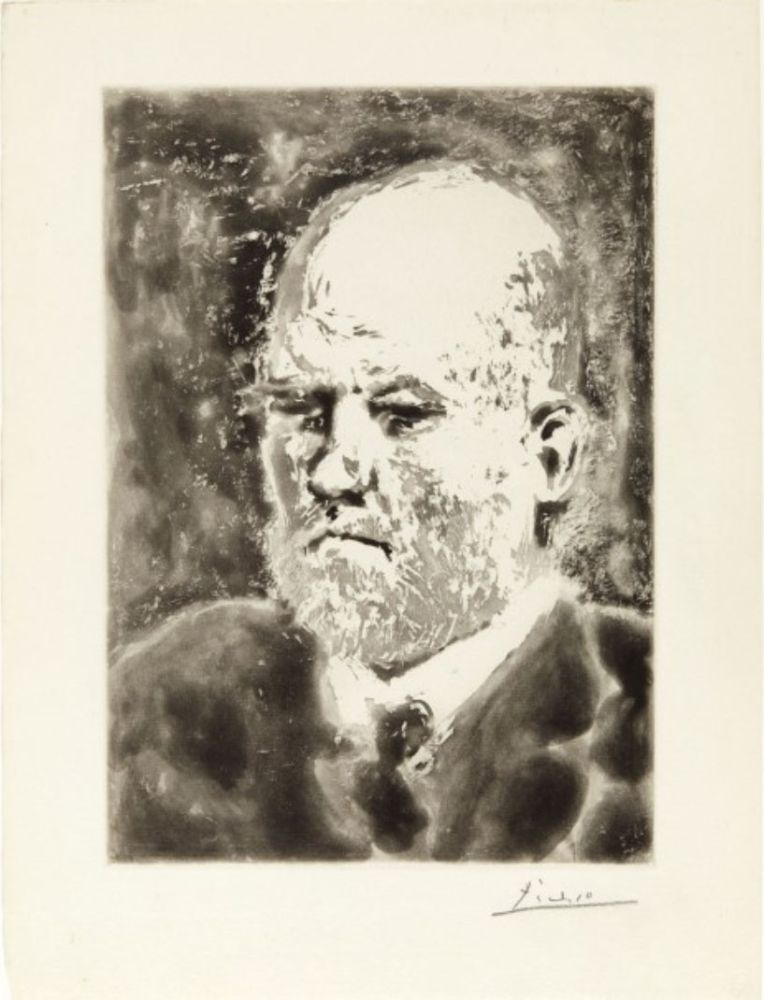 Aquatint Picasso - Portrait de Vollard I