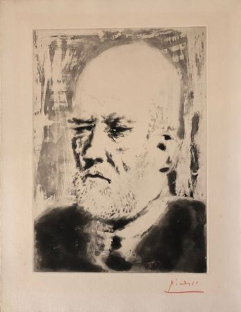 Aquatint Picasso - Portrait de Vollard II