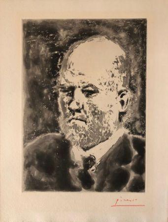 Aquatint Picasso - Portrait de Vollard III