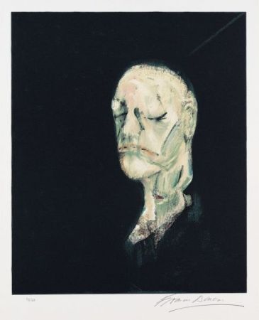 Lithograph Bacon - Portrait de William Blake