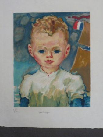 Lithograph Van Dongen - Portrait d'enfant