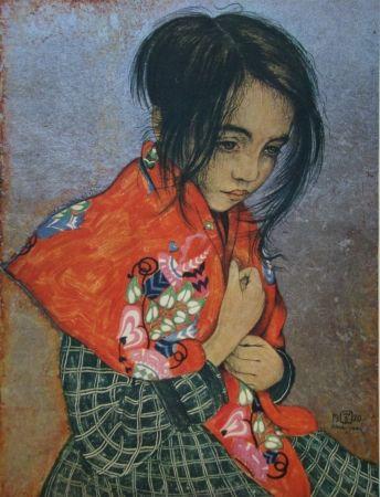 Etching Sauer - Portrait d'enfant