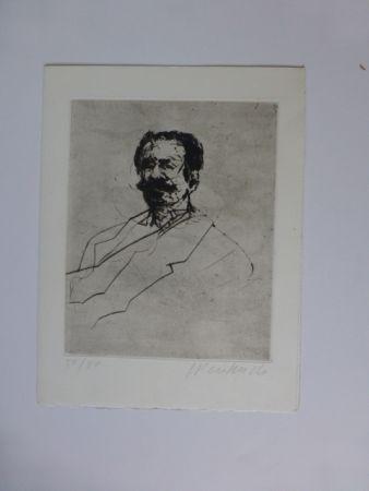 Etching Weisbuch - Portrait d'homme