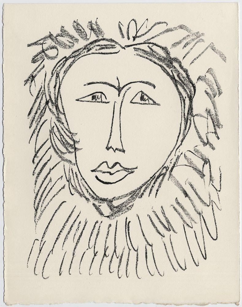 Lithograph Matisse - Portrait d'homme esquimau n° 3. 1947 (Pour Une Fête en Cimmérie)