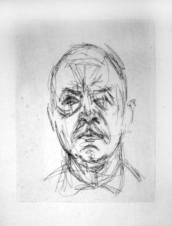 Etching Giacometti - Portrait d'Iliazd
