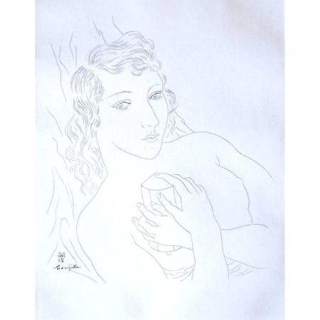 Lithograph Foujita - Portrait d'Isabey