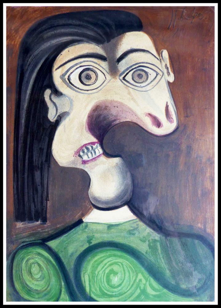 Lithograph Picasso (After) - PORTRAIT DORA MAAR