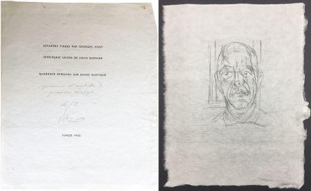 Drypoint Giacometti - Portrait du célèbre Orbandale (Ilia Zdanevitch dit Iliazd)