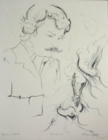 Lithograph Bonnefoit - Portrait du peintre jc quilici