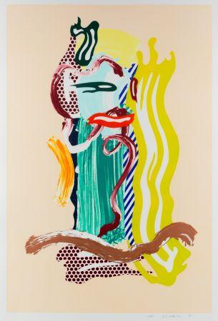 Multiple Lichtenstein - Portrait, From Brushstroke Figures Series