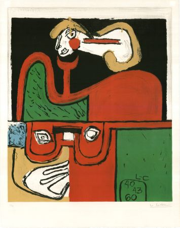 Lithograph Le Corbusier - Portrait (hand-signed, numbered)