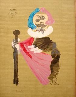 Lithograph Picasso - Portrait Imaginair 6-4-69 I