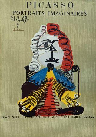 Lithograph Picasso - Portrait Imaginaire 21.2.69 I