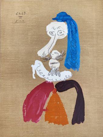 Lithograph Picasso - Portrait Imaginaire 6.4.69II