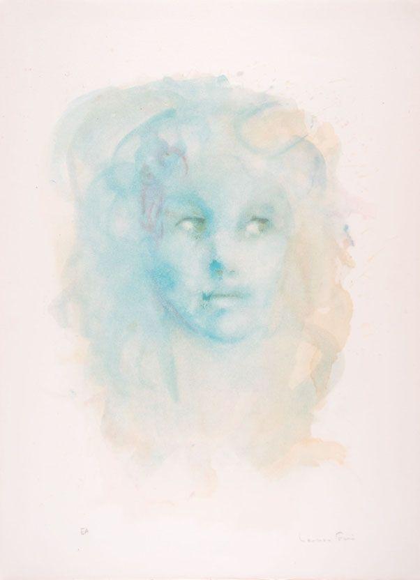 Lithograph Fini - Portrait imaginaire bleu