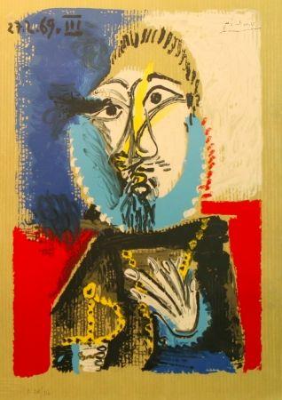 Lithograph Picasso - Portrait Imaginaires 27.2.69 III