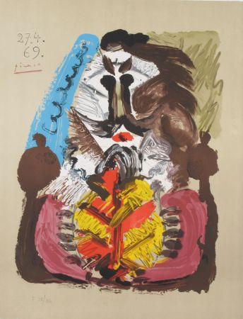 Lithograph Picasso - Portrait Imaginaires 27.4.69