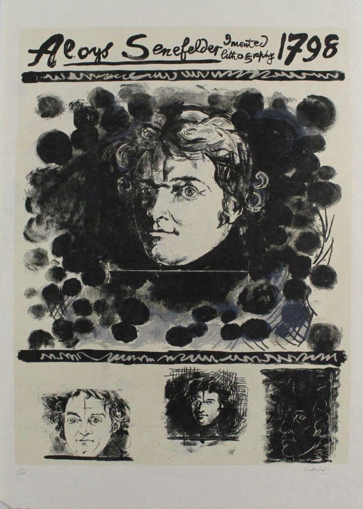 Lithograph Sutherland - Portrait of Aloys Senefelder