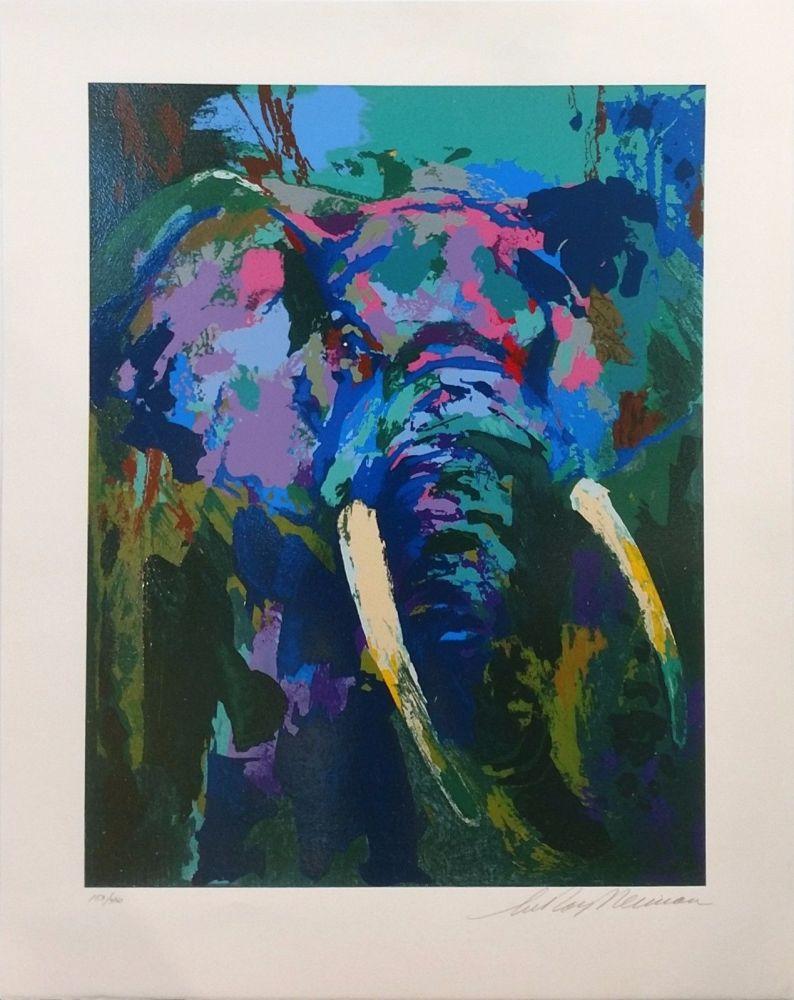 Screenprint Neiman - PORTRAIT OF AN ELEPHANT