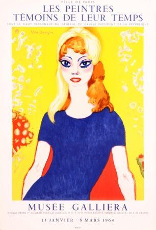 Lithograph Van Dongen -  Portrait of Brigitte Bardot, Musée Galliera