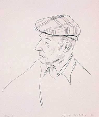 Lithograph Hockney - PORTRAIT OF BURROUGHS