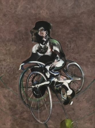 Multiple Bacon - Portrait Of Georges Dyer Riding A Bicycle