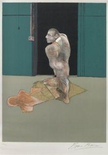 Lithograph Bacon - Portrait of John Edwards