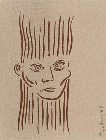 Screenprint Haring - Portrait of Joseph Beuys