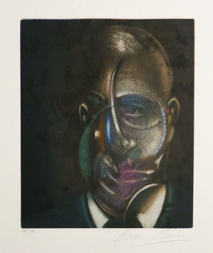 Aquatint Bacon - Portrait of Michel Leiris
