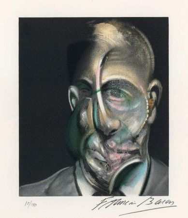 Lithograph Bacon - Portrait of Michel Leiris