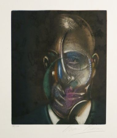 Aquatint Bacon - Portrait of Michel Leiris