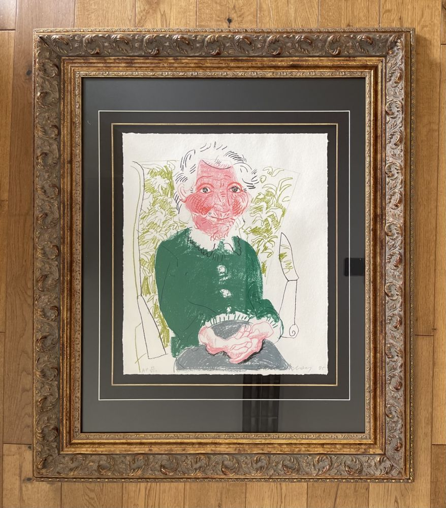 Lithograph Hockney - Portrait of Mother 1