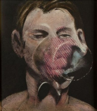 Etching And Aquatint Bacon - Portrait of Peter Beard I