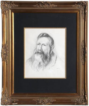 Lithograph Renoir - Portrait of Rodin