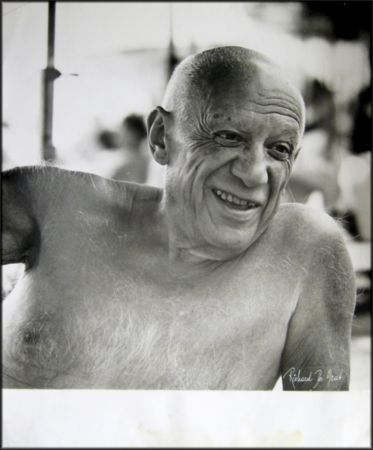 Photography Picasso - Portrait of the artist smiling