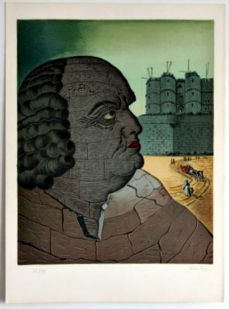 Lithograph Ray - PORTRAIT OF THE MARQUIS DE SADE
