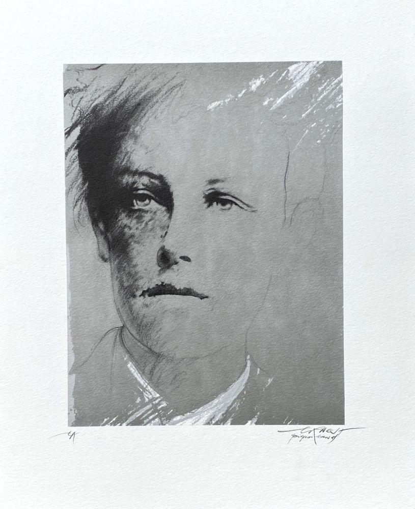 Lithograph Pignon-Ernest - Portrait Rimbaud