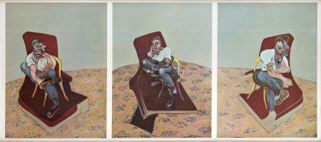 Lithograph Bacon - Portrait von Lucien Freud