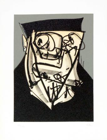 Lithograph Saura - Portrait XIV