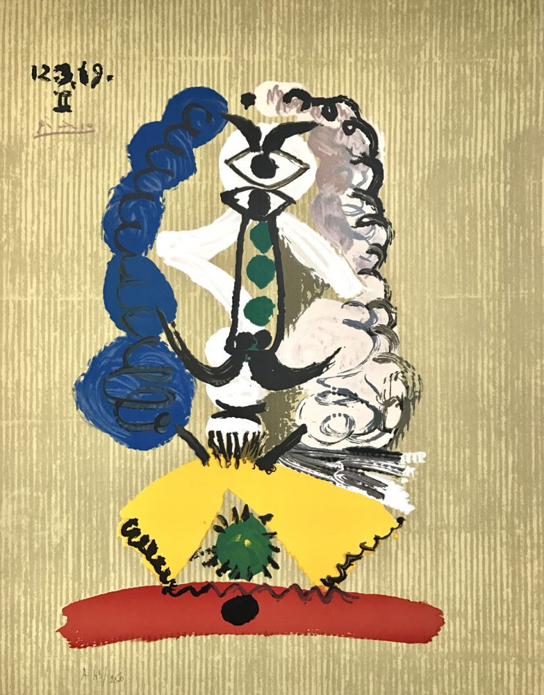 Lithograph Picasso - Portraits Imaginaires 12.3.69 II
