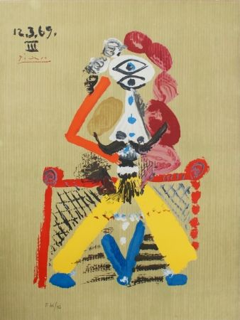 Lithograph Picasso - Portraits Imaginaires 12.3.69 III SOLD