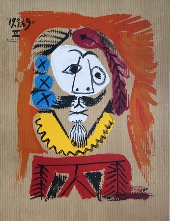 Lithograph Picasso - Portraits Imaginaires 19.3.69 II